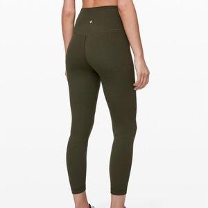 "Lululemon Align Pant 28"" Dark Olive Size 2"
